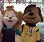 Ростовые куклы Барбоскины (Лиза, Дружок) с аниматорами
