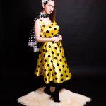 Костюм женский Стиляга в желтом