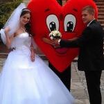 Ростовая кукла Сердце, для поздравления